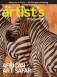 On the cover of The Artist's Magazine,